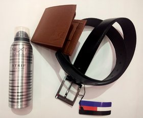 MEN STYLE KIT COMBO NEXT PERFUME + STYLISH BROWN  WALLET + BLACK LEATHER BELT
