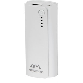 Ambrane Power Bank P-444 (4000Mah) White - 1 Year Warranty