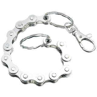Discount4product Cycle Chain Strong Metal Hipster Key Wallet Belt Ring Clip Chain Keychain