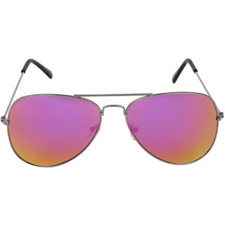 Criba Red UV Protection Aviator Unisex Sunglass