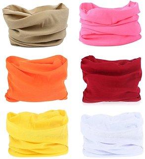 The Blazze 6PCS Outdoor Headscarves for ATV/UTV riding, Seamless Bandanas Tube, High Elastic Headband with UV Resistanc