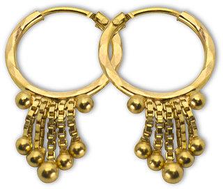 8 Ball Gold Earrings