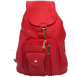 5740ebf270b0 Buy Chhavi India Designer Red Pu Backpack For Girls Online - Get 75% Off