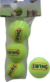 cosco tennis cricket ball green colour 3 ball set
