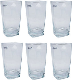 Being Creative Crystal Multipurpose Party Designer  Clear Set of 6 Juice Glass