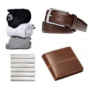 angel homes combo 3 pair socks, 1 belt, 1 purse, 1 white hanky