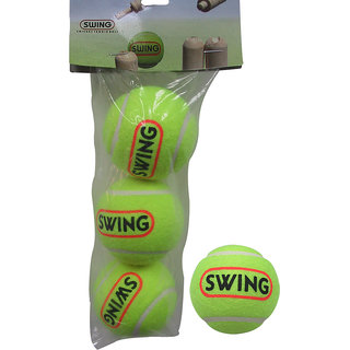cosco tennis cricket ball green colour 3 ball set
