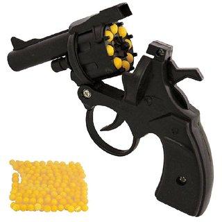 Revolver Plastic Small Toy Gun With 100 BB Shots