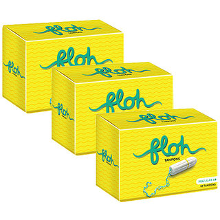 Floh Regular Tampons Combo of 3 (30 pieces)