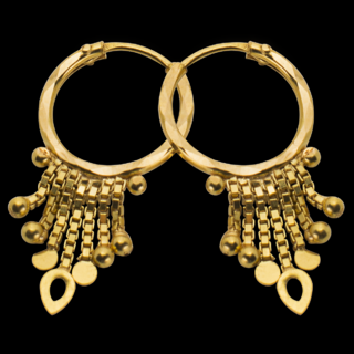 Gold Crate Earrings