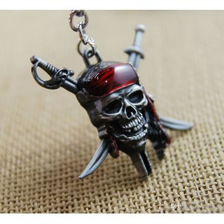 kudos Pirates Of The Caribbean metal keychain (pack of 1) Silver