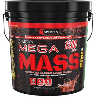 Spartan Nutrition Mega Mass PRO Series Weight/Mass Gainer (11LBS Chocolate)