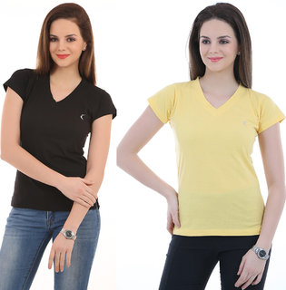 (Pack of 2) ,Ultrafit  Branded  Comfortable  Attractive  T-Shirts.