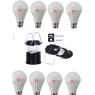 Alpha 7 Watt LED Bulb Combo of pack of 8 with Free Larnten