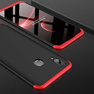 BRAND FUSON VIVO V9 Front Back Case Cover Original Full Body 3-In-1 Slim Fit Complete 3D 360 Degree Protection Hybrid Hard Bumper (Black Red) (LAUNCH OFFER)