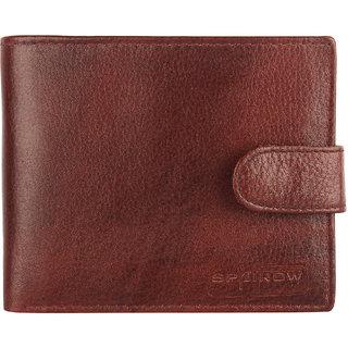 SPAIROW MenS Genuine Leather Wallet (ALS-0102) (Brown)