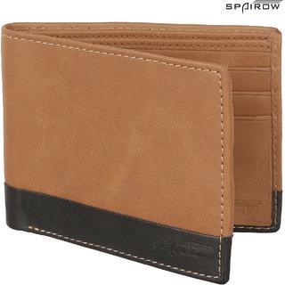 SPAIROW MenS Leather Wallet (ORA-0102_Brown)