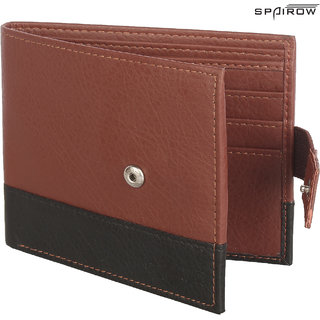 SPAIROW MenS Leather Wallet (REMO-0102_Brown)