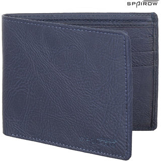 SPAIROW MenS Leather Wallet (TEX-0103_Blue)