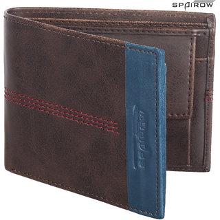 SPAIROW MenS Leather Wallet (AL-0102_Brown)