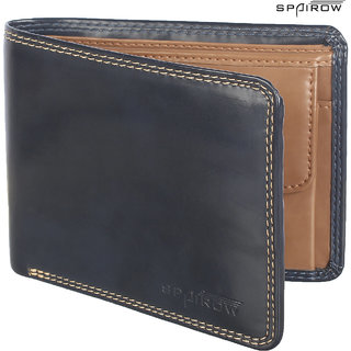 SPAIROW MenS Leather Wallet (ACR-0103_Blue)