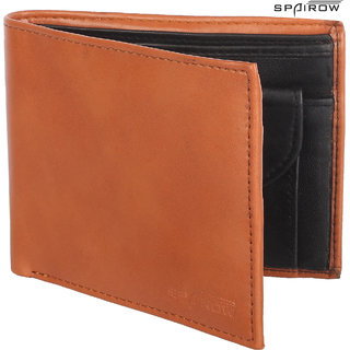 SPAIROW MenS Leather Wallet (AC-0104_Tan)