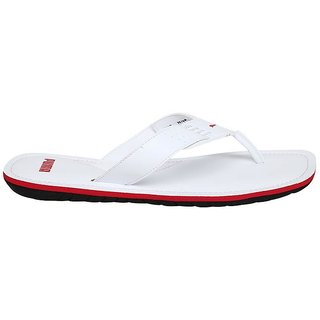 1d6a8b5e13a3c8 Buy Puma Men s White Caper NU IDP Flip Flop Online   ₹1699 from ...