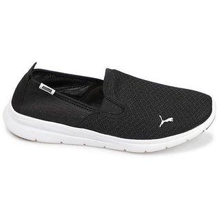 Puma Mens Black Flex Essential Slip On Casual Shoes