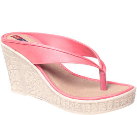 MSC Women Synthetic Pink wedges