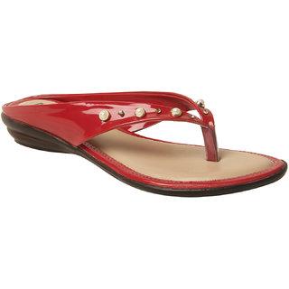 MSC Women Synthetic Red sandal