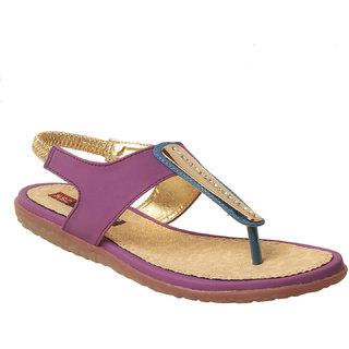 MSC Women Synthetic Purple sandal