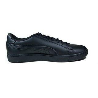 Puma Mens Black Smash v2 L Sneakers