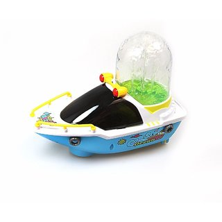ShopMeFast Bump-N-Go Happy Fountain Boats With Light  Sound Toys For Kids