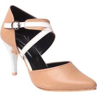 MSC Women Synthetic Beige Heels