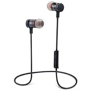 GUG Magnetic BT With Locking Design Neckband Wireless Headphones With Mic