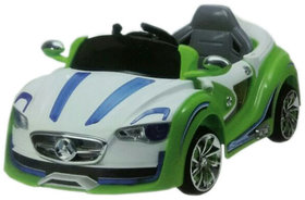 Oh Baby Battery Operated Sports Car Green Color With Re