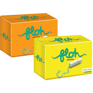 Floh Regular + Super Tampons Combo of 2 (20 pieces)