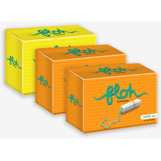 Floh Regular + 2 Super Tampons Combo of 3 (30 pieces)
