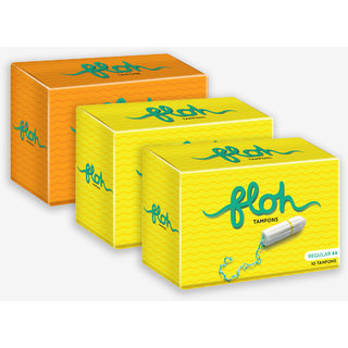Floh Super + 2 Regular Tampons Combo of 3 (30 pieces)