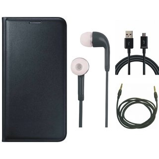 Redmi Note 3 Flip Cover with Earphones, USB Cable and AUX Cable