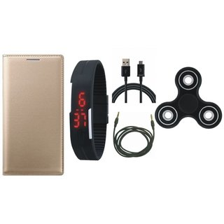 Redmi Note 3 Cover with Spinner, Digital Watch, USB Cable and AUX Cable by Vivacious