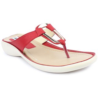 MONAQI RED FLAT SANDAL FOR GIRLS & LADIES BY DIGNI