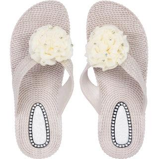 e8e7f4d37f4f Buy Czar Flip Flops Slipper for Women RO-02 beige Online - Get 68% Off
