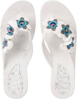 Czar Flip Flops Slipper for Women RO-07 White