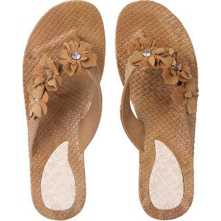 ecd1f8e54d9 Buy Czar Flip Flops Slipper for Women Ro-03 Brown Online - Get 68% Off