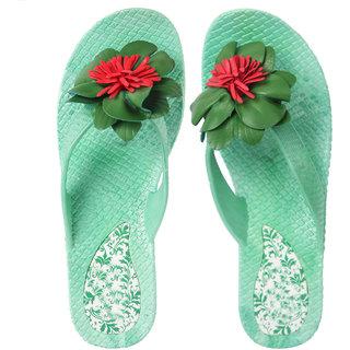 c1f6a8cbb Buy Czar Flip Flops Slipper for Women RO-05 Green Online - Get 68% Off