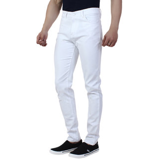 Rock Hudson Men's White Strechable Denim Jeans