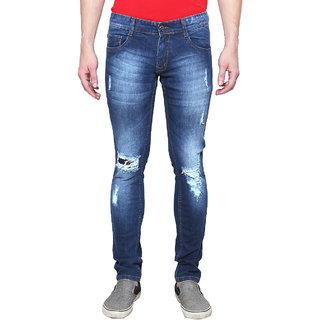 Rock Hudson Men's Stechable Regular Wear Distress Denim Jeans