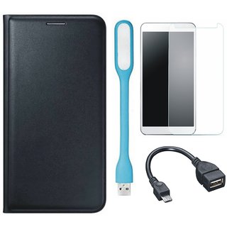 K6 Power Premium Quality Leather Cover with Tempered Glass, USB LED Light and OTG Cable
