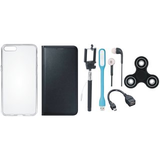 K6 Power Cover with Spinner, Silicon Back Cover, Selfie Stick, Earphones, OTG Cable and USB LED Light